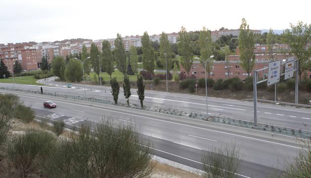 Ronda de Pamplona, a la altura de Mendillorri