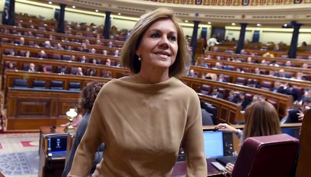 Cospedal dimite de la dirección del PP, pero mantiene su escaño en el Congreso