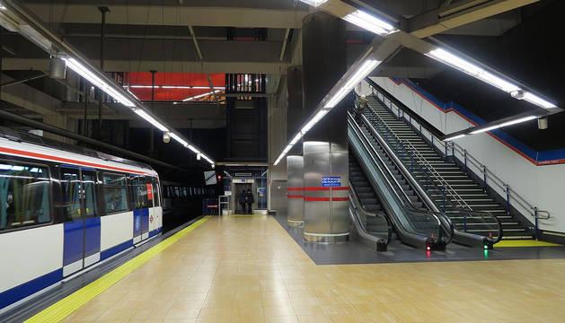 Una estación de metro de Madrid.