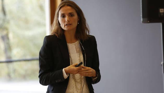 Ana Climente, del BBVA España, en su intervención.