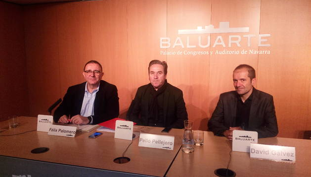 De izquierda a derecha: Félix Palomero, Pello Pellejero y David Gálvez, en la presentación.