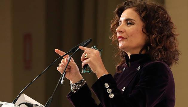 La ministra de Hacienda, María Jesús Montero, durante su intervención en el Foro Cinco Días.