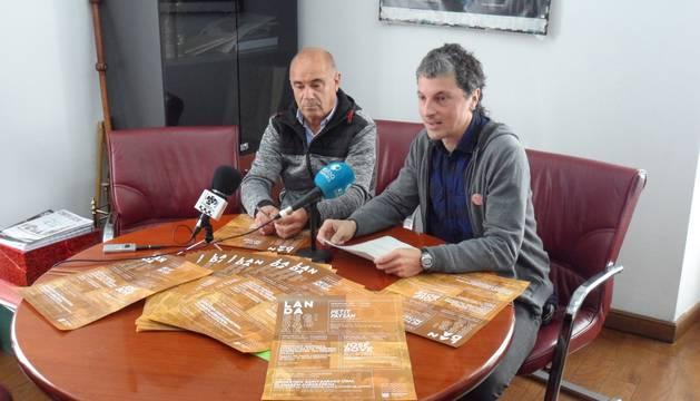 El concejal Florentino Goñi (Baztango Ezkerra) y el alcalde, Joseba Otondo (EH Bildu).