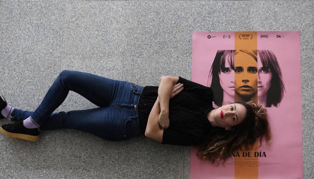 Andrea Jaurrieta, este jueves, en la Filmoteca de Navarra, donde presentó su primer largometraje, 'Ana de día', que llega este viernes a la cartelera de cine.