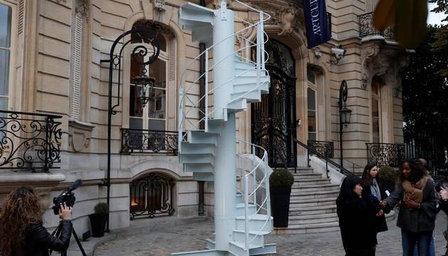El tramo de la escalera que se va a subastar