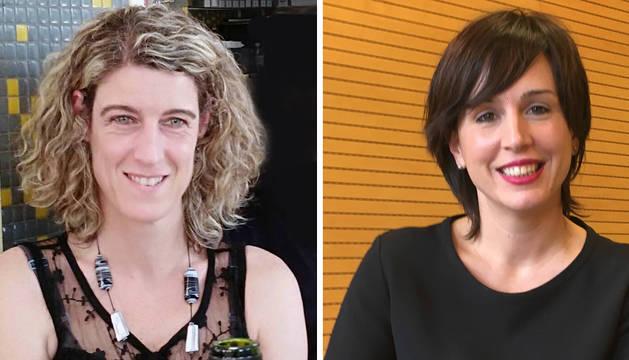 foto de Laura Arzoz y Ana Goyén, empresaria y directiva Navarra 2018 para AMEDNA.