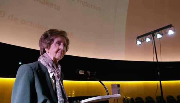 Margarita Salas, en el Planetario de Pamplona.