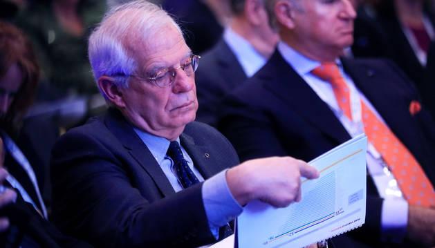 El ministro español de Exteriores, Josep Borrell , durante la inauguración de la XIX Edición del Foro Iberoamericano.