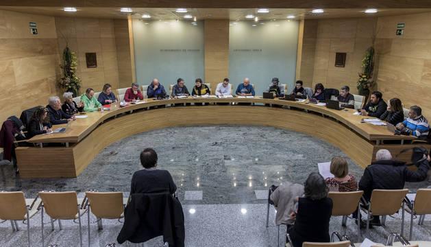 Foto de archivo del pleno del Ayuntamiento de Ansoáin.