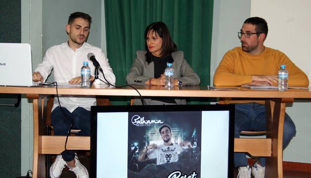 De izda. a dcha., Javier Millán, Raquel Garbayo y Joaquín Moreno.
