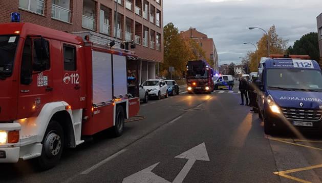 Foto del incendio en calle Remiro de Goñi.