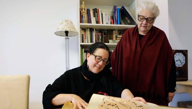 foto de Las sopranos Lisa Paglin (izquierda) y Marianna Brilla.