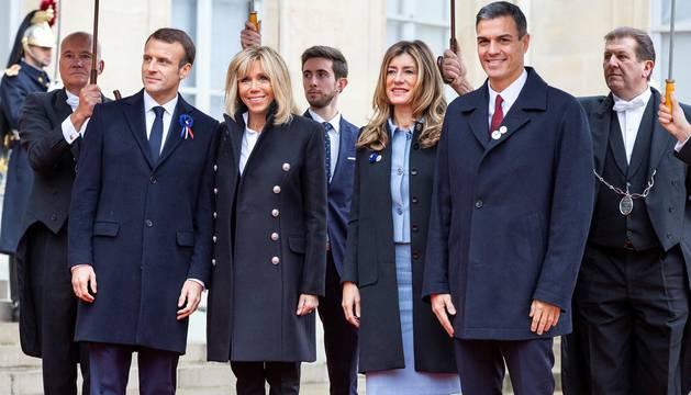 El presidente del Gobierno, Pedro Sánchez, y el Rey Felipe VI han asistido a los actos por el aniversario del fin de la I Guerra Mundial
