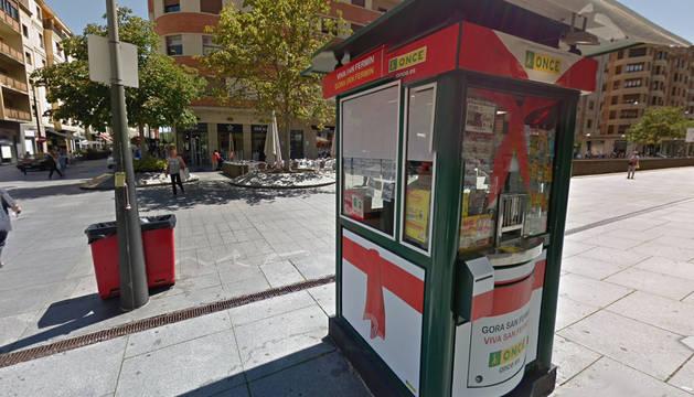 Kiosco de la ONCE de la avenida Carlos III de Pamplona.