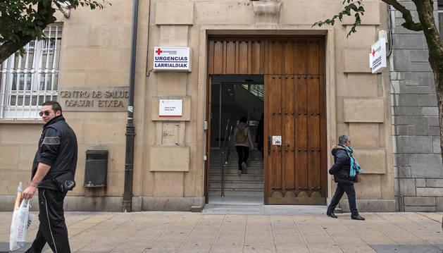 El centro de salud de Estella, situado en el paseo de la Inmaculada de la ciudad.