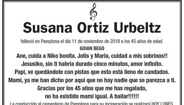 La esquela de Susana Ortiz