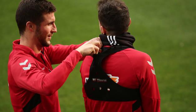 Oier y Juan Villar, en un entrenamiento.
