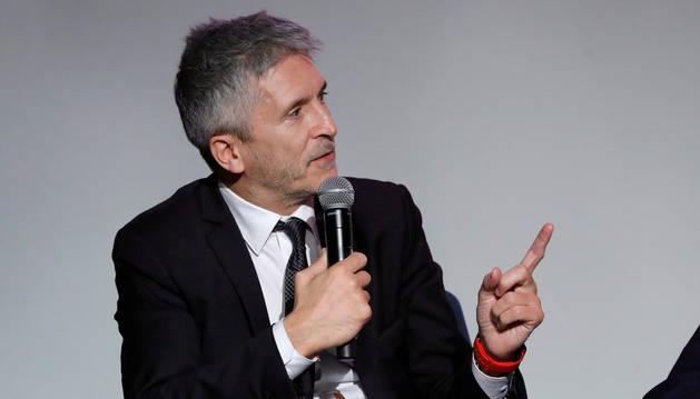 El ministro del Interior, Fernando Grande-Marlaska, participa en la presentación del documental