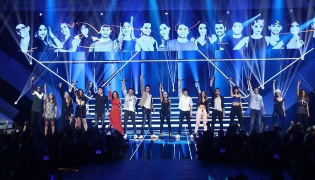 Los 16 concursantes de 'OT 2018', posibles candidatos para representar a España en Eurovisión 2018.