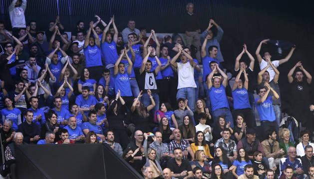 El Navarra Arena demostró su apoyo por Ezkurdia y vibró con la victoria del navarro.