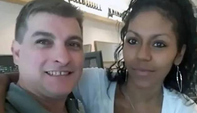 César Ramón Viruete, conocido como el 'Rey del Cachopo', y su novia Heidi Paz Bulnes, hallada descuartizada dentro de una maleta.