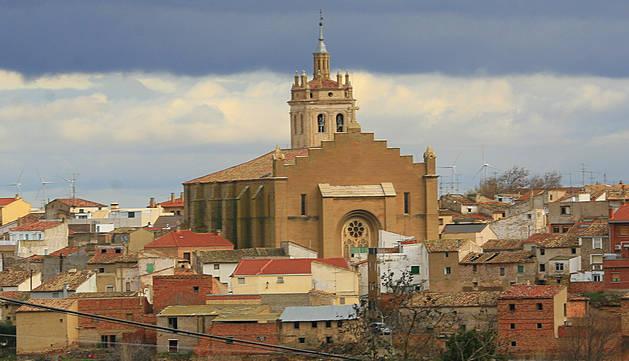 Una vista panorámica de la localidad ribera de Cintruénigo.