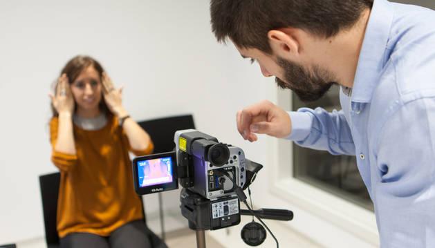 Imagen de una prueba de un registro elaborado con la cámara termográfica.
