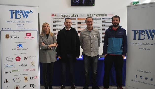 Desde la izda., Alicia Sanz, Íñigo Remírez de Ganuza, Arturo Goldaracena e Iñaki Lerga.