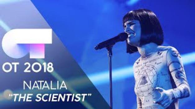Natalia Lacunza canta 'The Scientist' en la gala 10 de 'OT 2018'