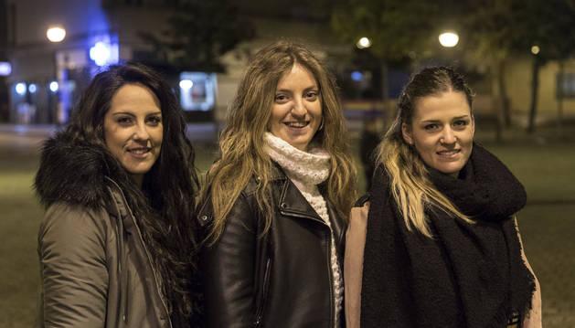 Saioa Uterga (Loyola), Anne Barandalla (Beti-Onak) y Leticia Arbizu (Lagunak), reunidas ayer en Barañáin.