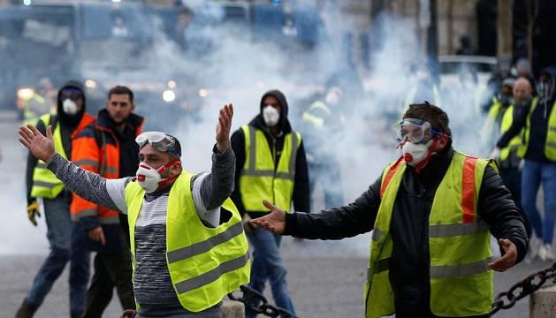 Disturbios en París en la manifestación de los 'chalecos amarillos'