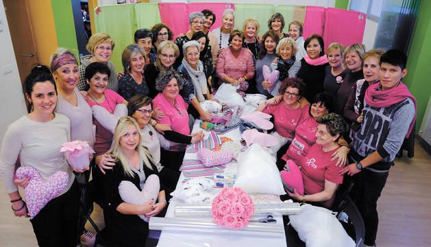 Foto de grupo de las mujeres que participaron