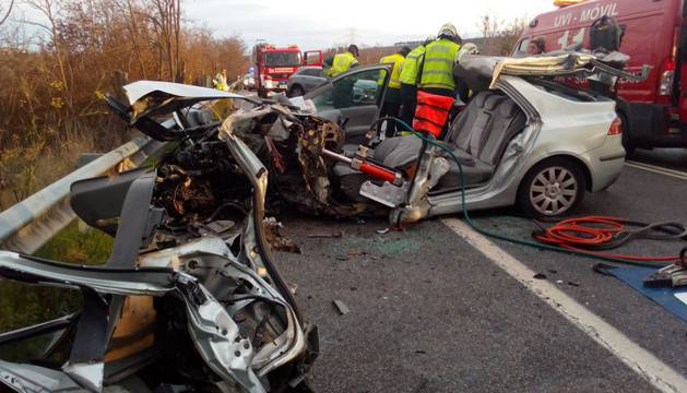 Accidente en Beriáin