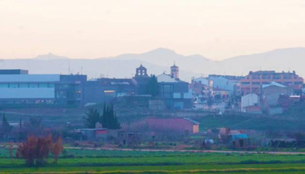 Una vista de la localidad ribera de Ribaforada, que acaba de aprobar sus presupuestos para 2019.
