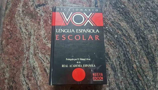 Un diccionario de la editorial Vox.