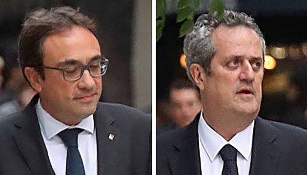 Los exconsellers Josep Rull y Joaquim Forn