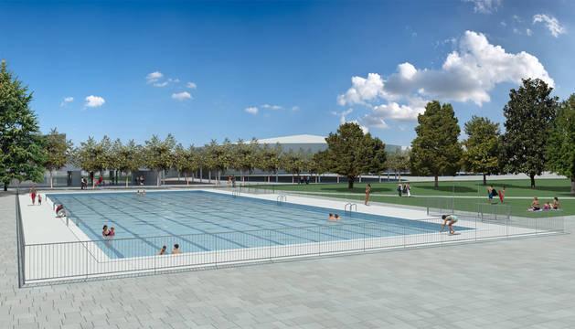 Recreación del aspecto que presentará la nueva piscina olímpica una vez se haya adaptado a la nueva normativa.