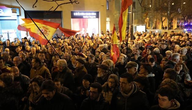 Concentración de la Guardia Civil en Pamplona