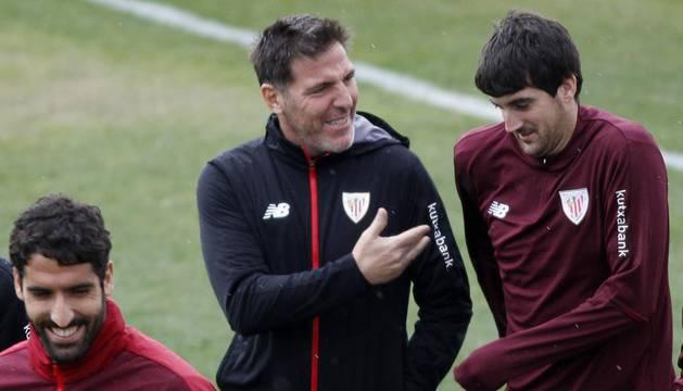 Berizzo y Mikel San José.