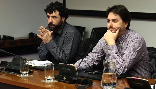 Por la izda.: Javier Zardoya Illana y Pablo Mendívil Pérez de Ciriza.