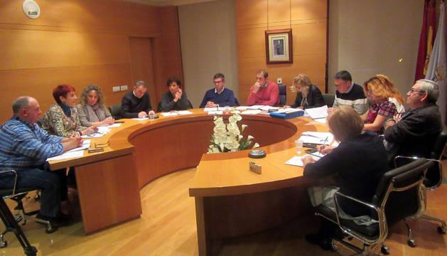 La corporación municipal, durante el pleno.