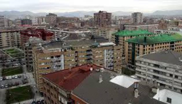 Vista del barrio de Iturrama