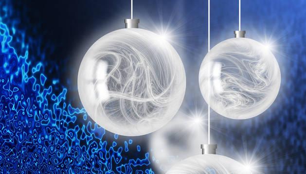 Bolas de un árbol de Navidad.