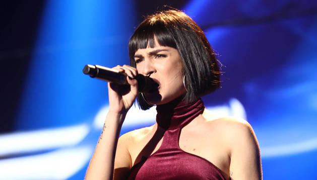 Natalia Lacunza, en su actuación del miércoles por la noche.