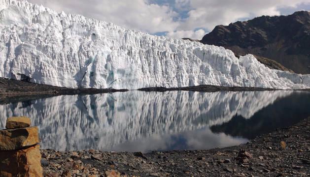 Glaciar de Perú.