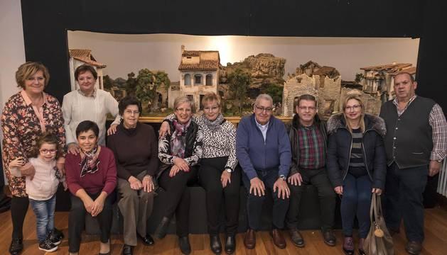 La Asociación de Belenistas de Tierra Estella muestra el fruto de un año de trabajo en la casa de cultura Fray Diego
