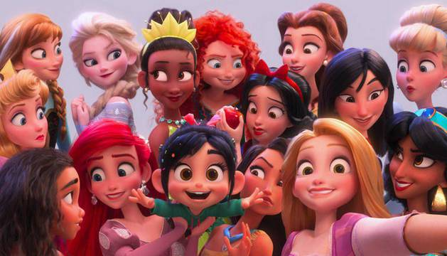 Reunión de princesas Disney de 'Ralph rompe Internet'.