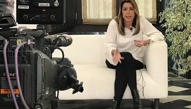 Susana Díaz, durante una entrevista televisiva.