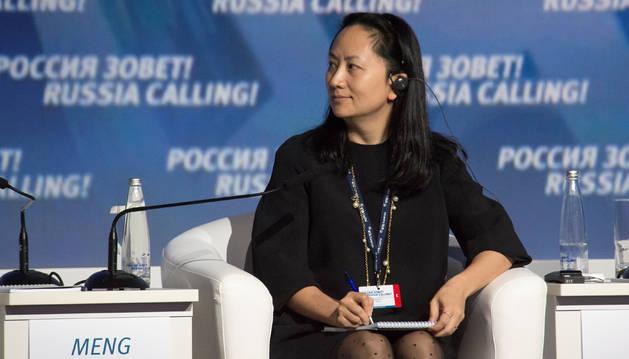 La directora financiera del fabricante de móviles chino Huawei, Meng Wanzhou.