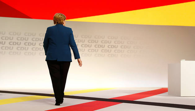 Merkel, tras hablar ante los 1.001 delegados de la CDU.